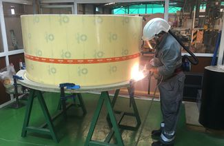 Hot-gas welding of ECTFE fabric backed sheets