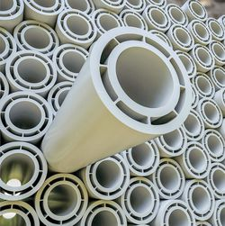 The Poly-Flo media pipe and protective pipe are extruded seamlessly in a single step.