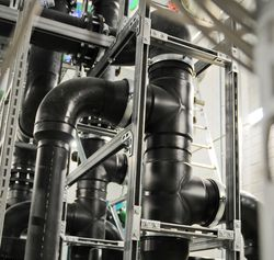 Electrically conductive pipework is mandatory in explosive areas.