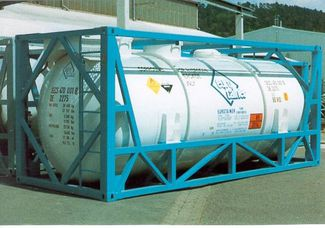 agru PFA lined ISO steel container