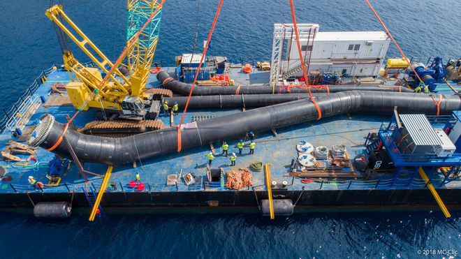 AGRU XXL pipes after prefabrication onshore