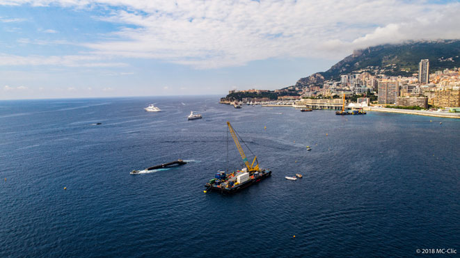 AGRU Pipes in the sea near Monaco