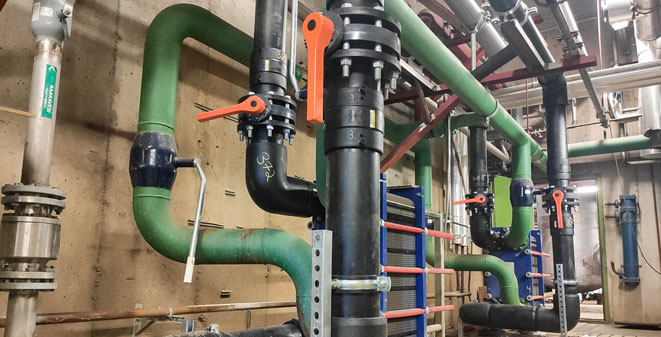 PE 100-RC cooling water pipes