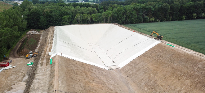 fleece installation for pp-htr geomembrane