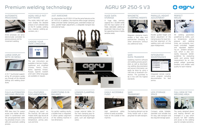 AGRU SP 250-S V3 welding