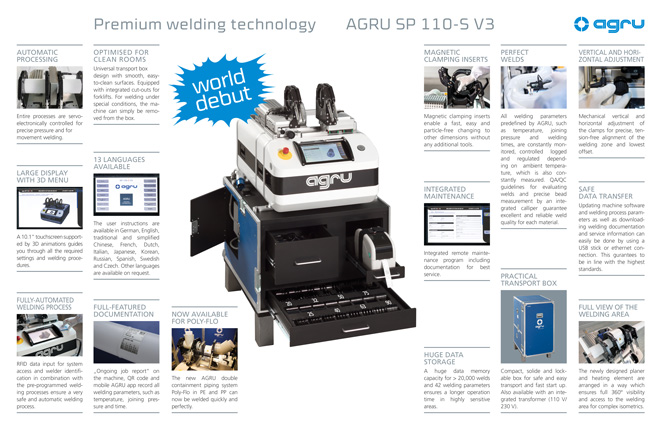 AGRU SP 110-S V3 welding