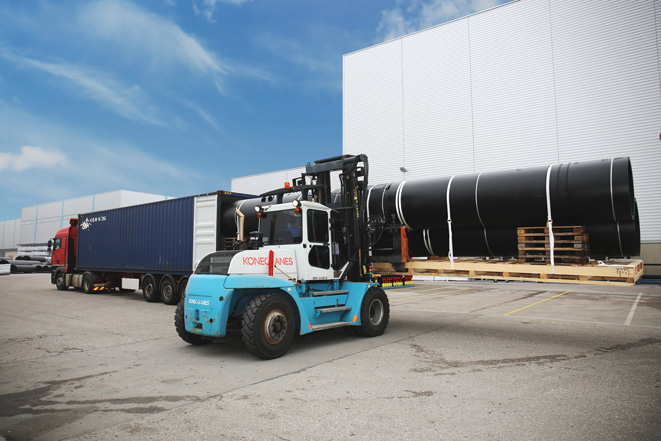 Agru xxl pipes for the ocean cleanup