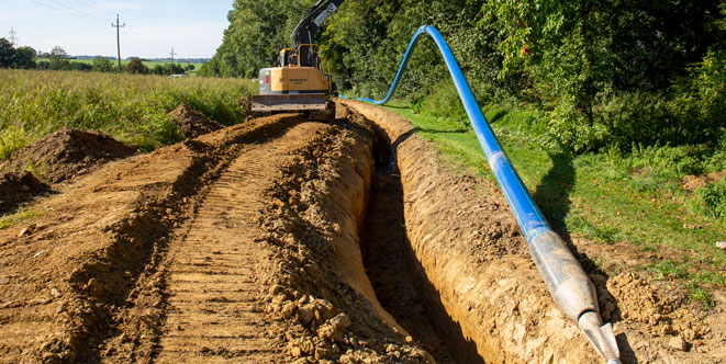 AGRU burstlining for drinking water pipeline