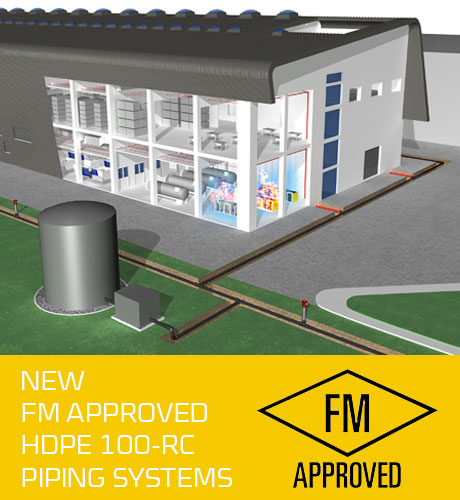 AGRU FM approved HDPE firefighting system
