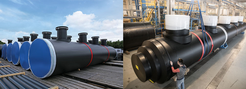 AGRU HDPE piping systems and fittings