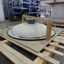 Thermoformed ECTFE scrubber lid with AGRU flange connection
