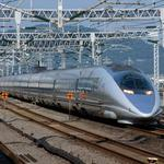 The railway Shinkansen