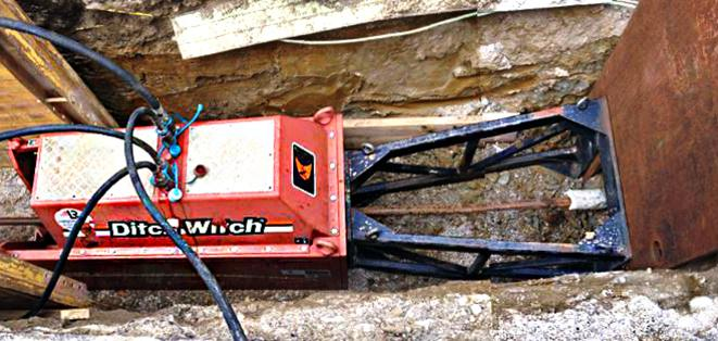 Construction Site with the Ditch Witch