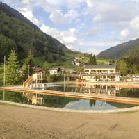 View over the natural swimming pool