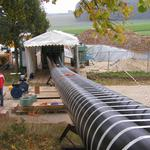 Folding the diameter pipe