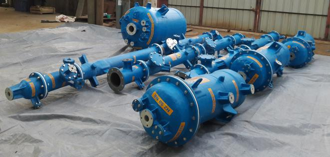AGRU Gas Scrubber made from ECTFE material