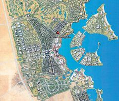 Map Lusail City in Qatar
