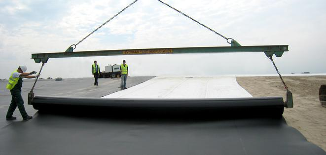 Laying of a Geomembrane