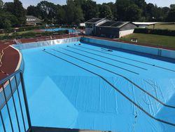1500 m² azure blue AGRU Relax Pool Liner
